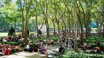 Bryant Park Editorial Stock Image