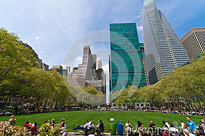 Bryant Park and buildings, New York City Editorial Image