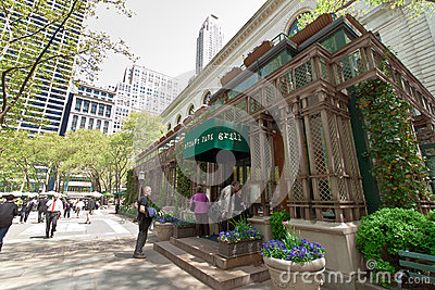 Bryant Park and buildings, New York City Editorial Stock Photo