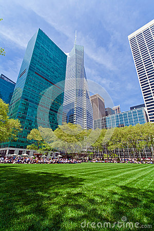 Bryant Park and buildings, New York City Editorial Photography