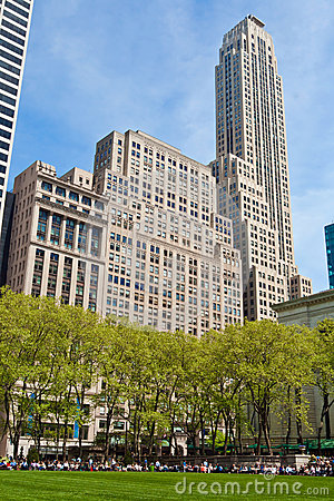 Bryant Park and buildings, New York City Editorial Photo