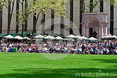 Bryant Park and buildings, New York City Editorial Stock Image