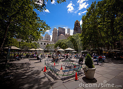 Bryant Park in Manhattan in New York City Editorial Photo
