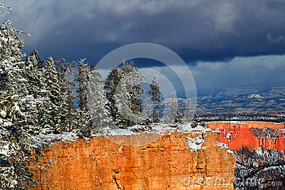 Bryce Canyon National Park Snowfall