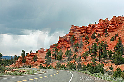 Bryce Canyon with Rain Approaching