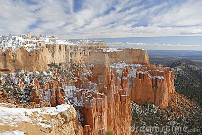 Bryce Canyon in winter at Paria Point