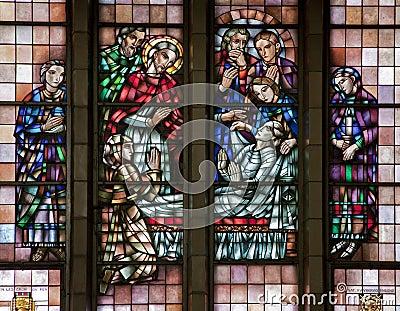 Bryssel - mirakel av multiplikation av mat - Basilica
