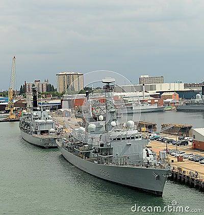 Brytyjscy okręty wojenni Fotografia Editorial