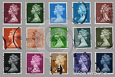Brytyjscy znaczków pocztowych