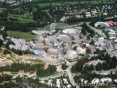 Brytyjski Canada Columbia wioski whistler