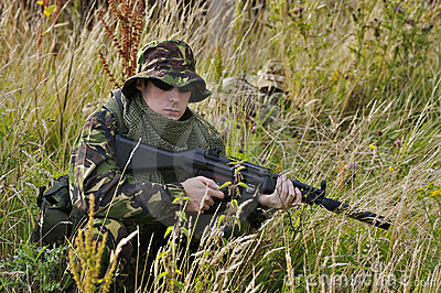 Brytyjski żołnierz.