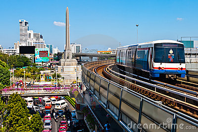 The BTS sky train Editorial Photo