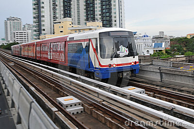 BTS Skytrain in Bangkok Editorial Stock Image