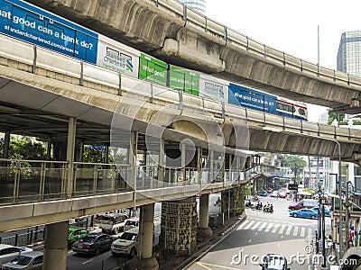 BTS skytrain, Bangkok Editorial Stock Photo