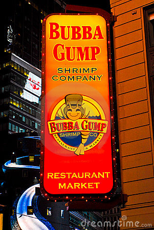 Bubba Gump Shrimp Company, Times Square, NYC Editorial Photography