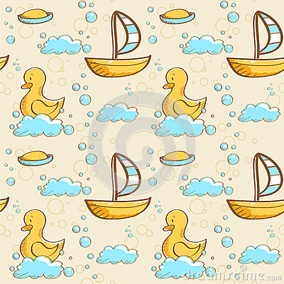 Bubble bath seamless pattern