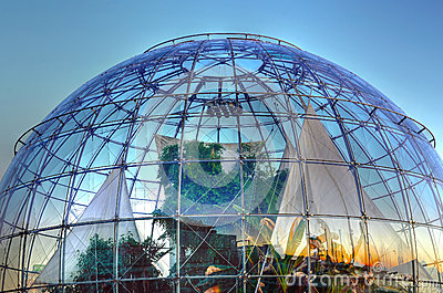 The bubble (biosphere) by Renzo Editorial Stock Photo