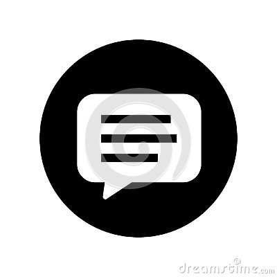 Bubble chat in Black Circle - vector iconic design Vector Illustration