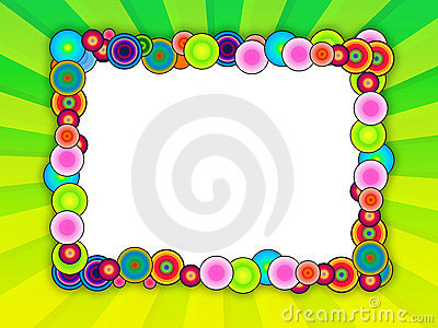 Bubble Frame on Bright Green Background