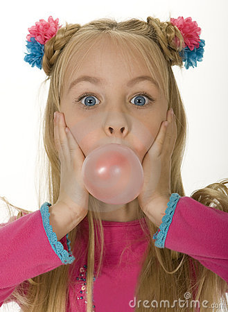 Free Bubble Gum Girl Royalty Free Stock Image - 4678856