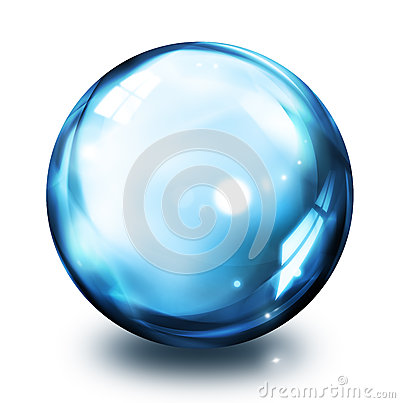 Bubble icon - blue