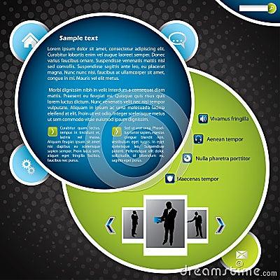 Bubble like website template