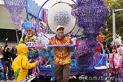 Bubble Man Float In Parade Editorial Photo