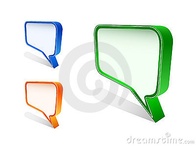 Bubble speech icon set