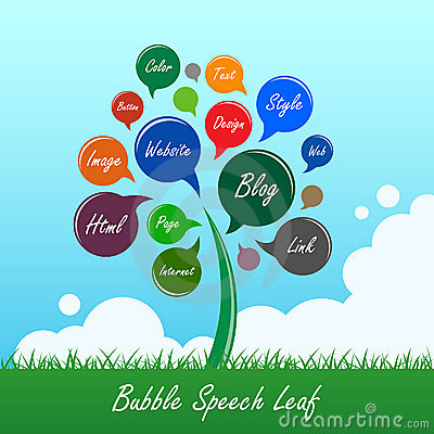 Free Bubble Speech Tree Leaf Flower Stock Photo - 18893040