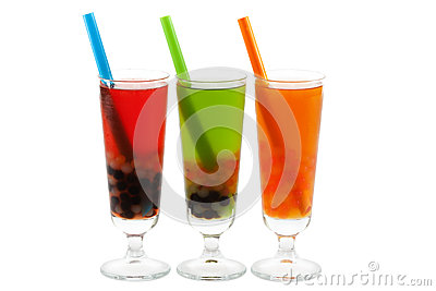 Bubble tea with clipping path