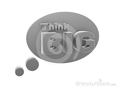Bubble and think big symbol