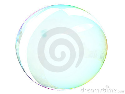 Bubble on White