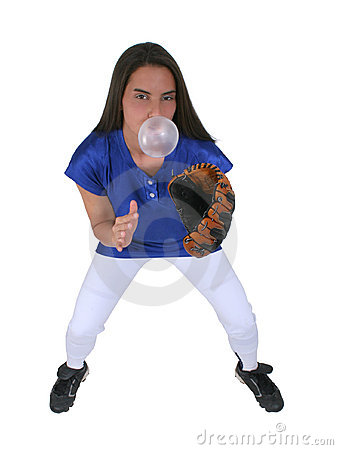 Bubblegum Softball Player