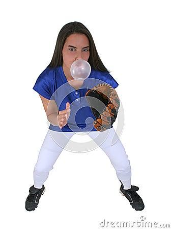 Bubblegum Softball Player