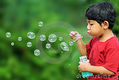 Bubbles boy