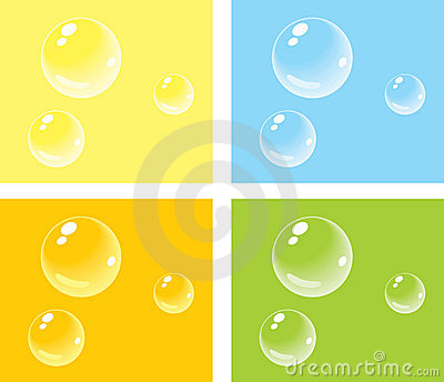 Bubbles on colored backgrounds