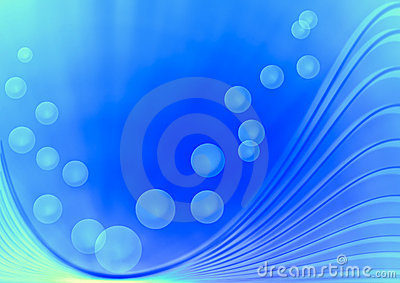 Bubbles with curve line background