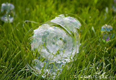Bubbles On Grass Royalty Free Stock Image - Image: 31192536