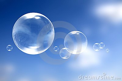 Bubbles over the sky
