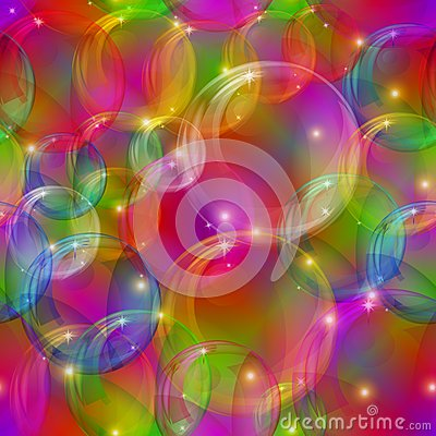Bubbles seamless motley
