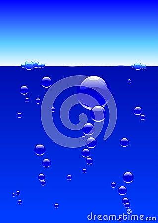 Bubbles under the surface