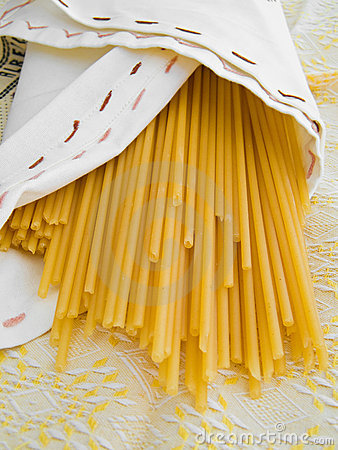 Free Bucatini Pasta. Italian Food. Stock Photo - 13816540