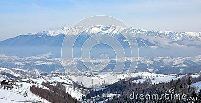 Bucegi winter landscape Romania