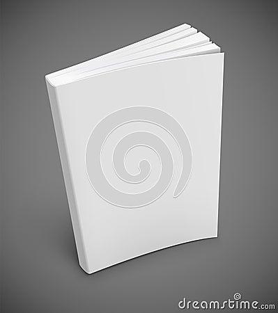 Buch mit unbelegter weißer Abdeckung