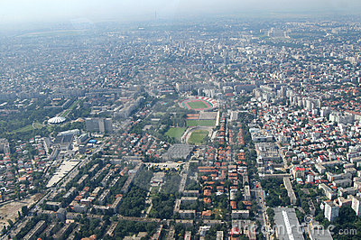 Bucharest, aerial view