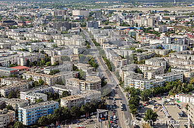 Bucharest Aerial View Editorial Stock Photo