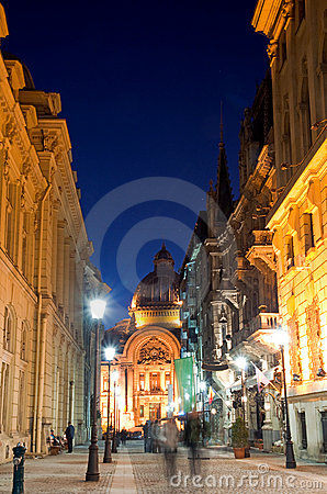 Free Bucharest By Night - The Historic Centre Stock Image - 21665781