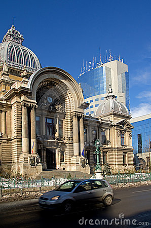 Free Bucharest Center - CEC Palace Stock Photo - 18208120