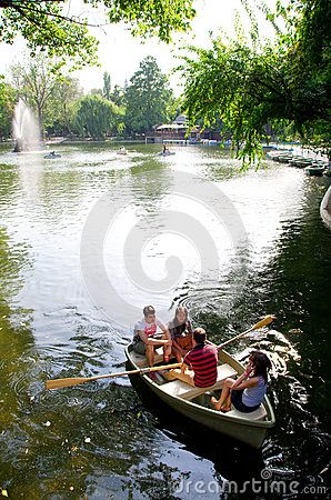 Bucharest - Cismigiu lake Editorial Stock Photo