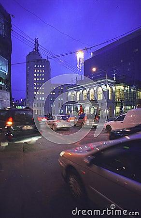 Bucharest city at night